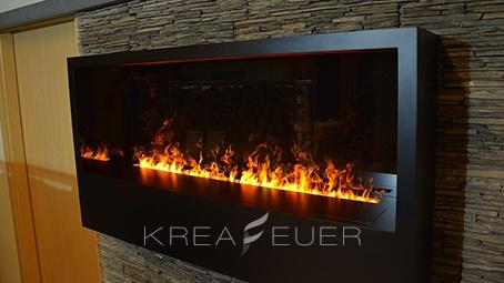 Dekoratives Feuer für an die Wand.