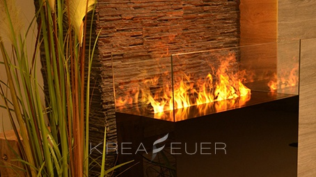 Krea Glas-Feuer-Säule