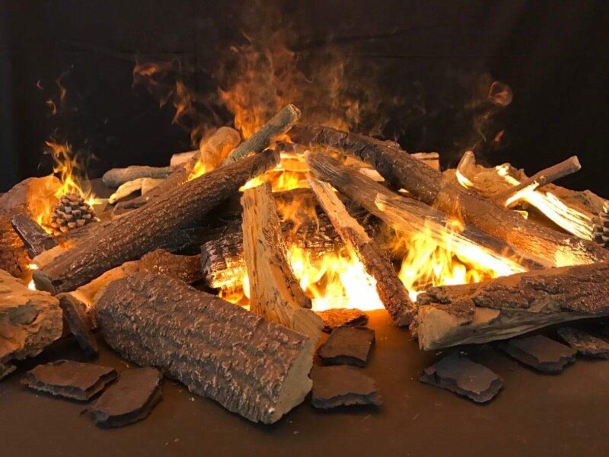 Effektfeuer offene Feuerstelle rund 800